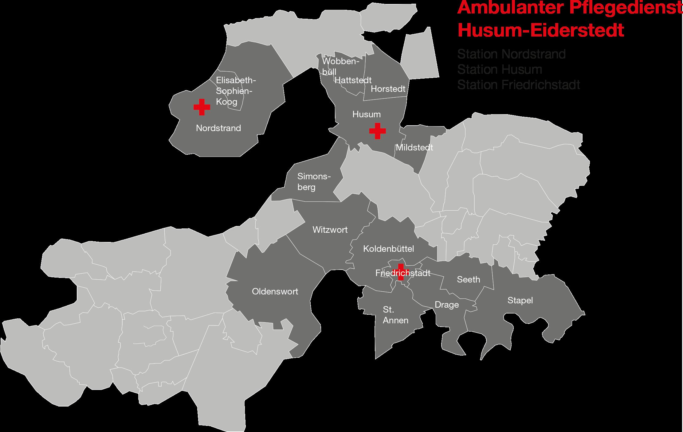 Husum Karte.Drk Pflegedienst Husum Nordstrand Und Friedrichstadt Drk